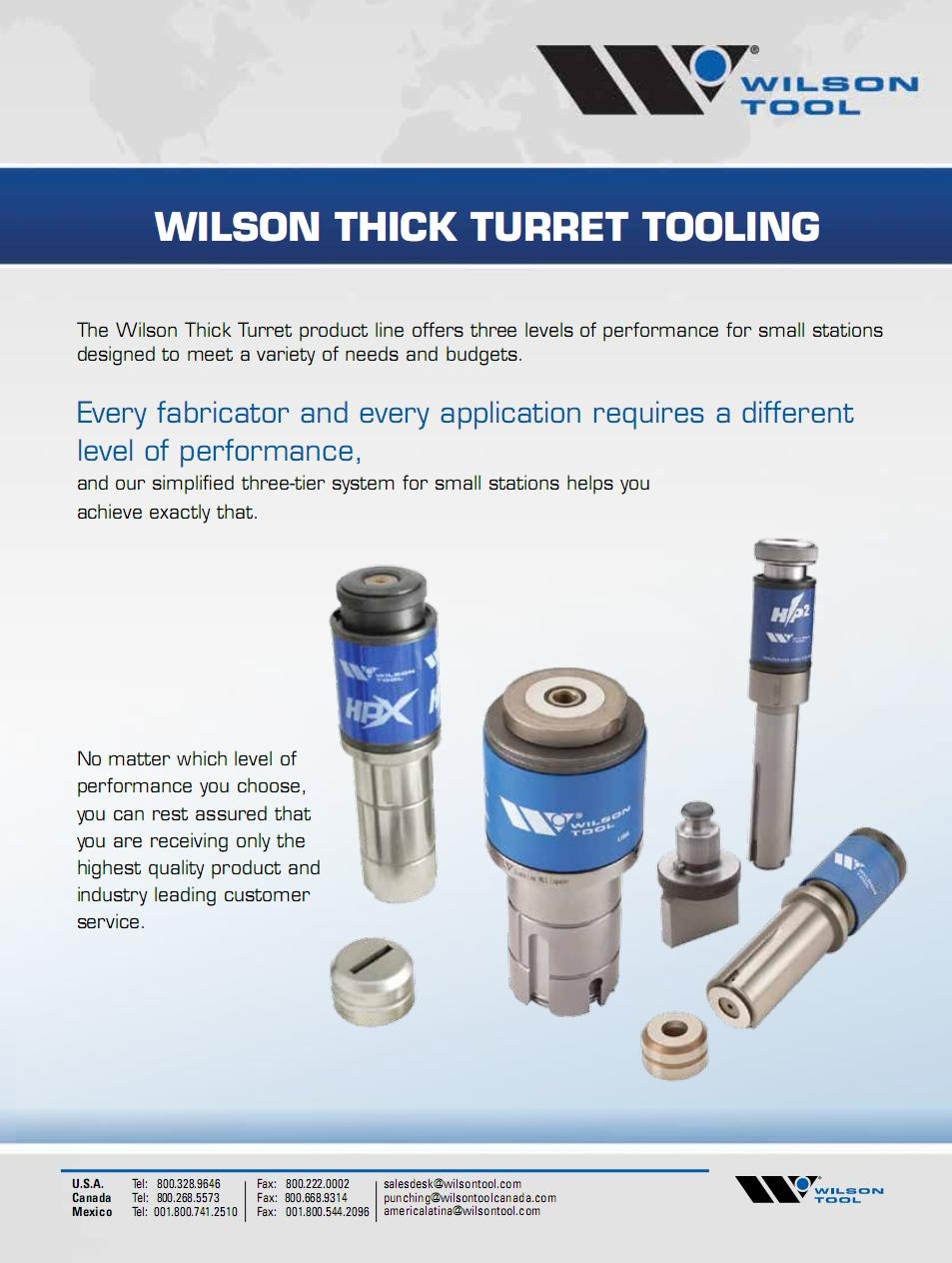 Wilson Thick Turret Tooling